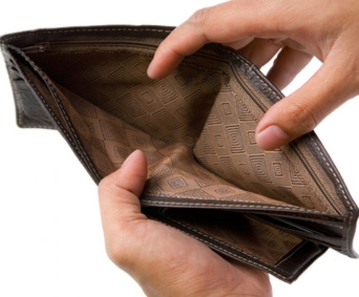 Wallet with no money inside